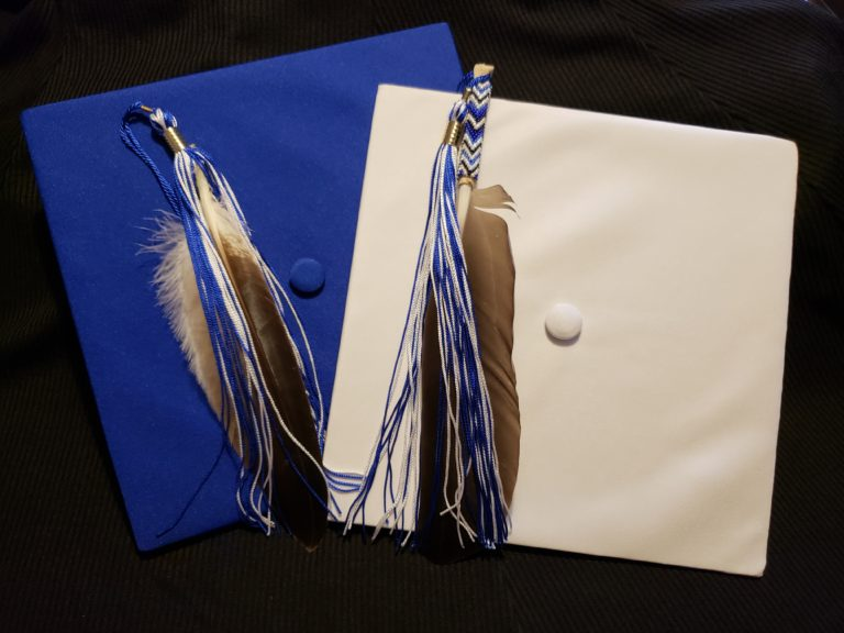 graduation caps with feasther