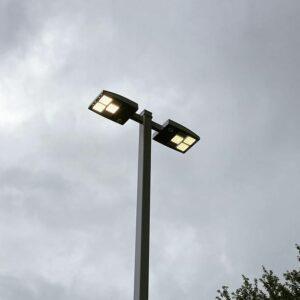 New LED lighting outdoors