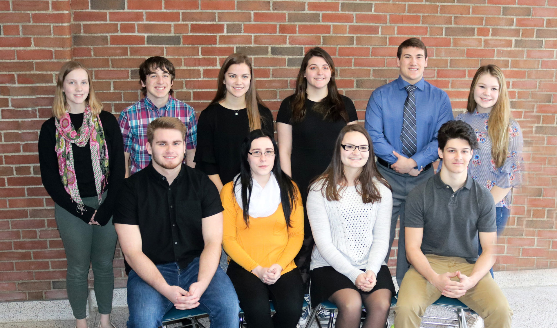 Caption: These top-ranked seniors are graduating at the head of the Class of 2019 at Gowanda High School. Front: Andrew Musacchio, Samantha Kinnaird, Kasie Salzman and Justin Kohn. Back: Brooke Riedel, Tyler Dakin, Olivia Ackley, Ceili Lipp, Ryan Gernatt and Grace Pawlak.