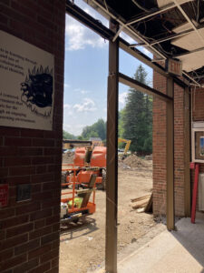 Former main entrance of Gowanda High pictured July 29, 2021.