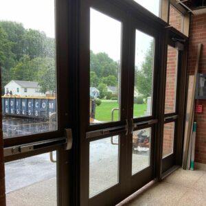 New main entrance doors at GHS