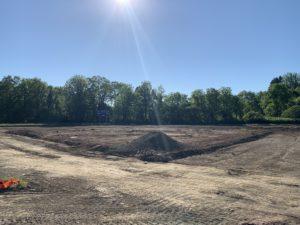 Softball field work on June 10, 2020.