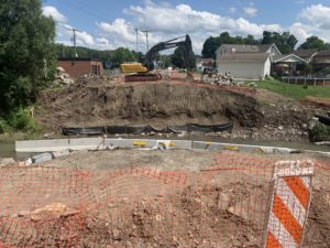 Panther Bridge replacement work from a distance July 24, 2020.