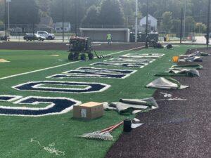 Softball field upgrades as of Sept. 24, 2020