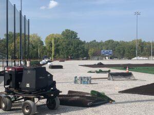 What the baseball field looks like on Sept. 24, 2020.
