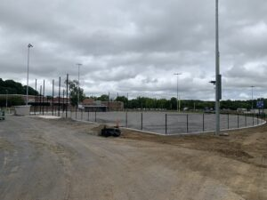 Work at the softball field site continues Sept. 11, 2020